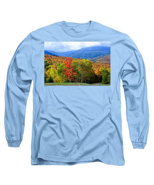 Long Sleeve T-Shirt featuring the photograph Autumn White Mountains Nh by Michael Hubley