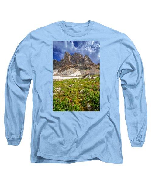 Awe Inspring Grand Teton Landscape Long Sleeve T-Shirt by Serge Skiba