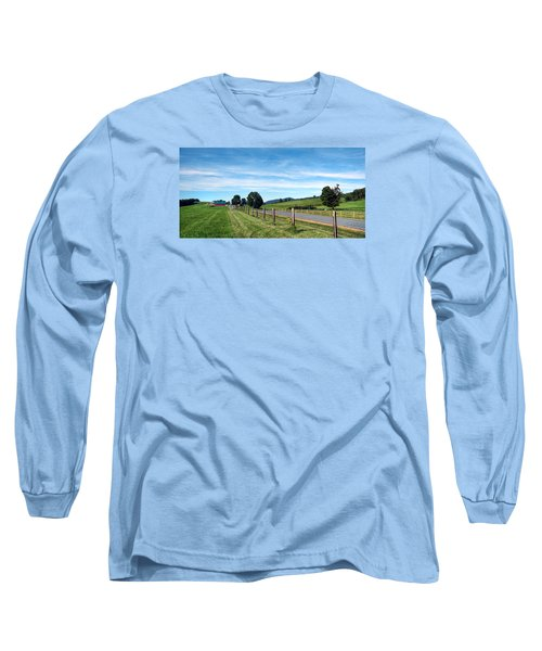 Ayrhill Farm Panoramic - The Berkshires Long Sleeve T-Shirt
