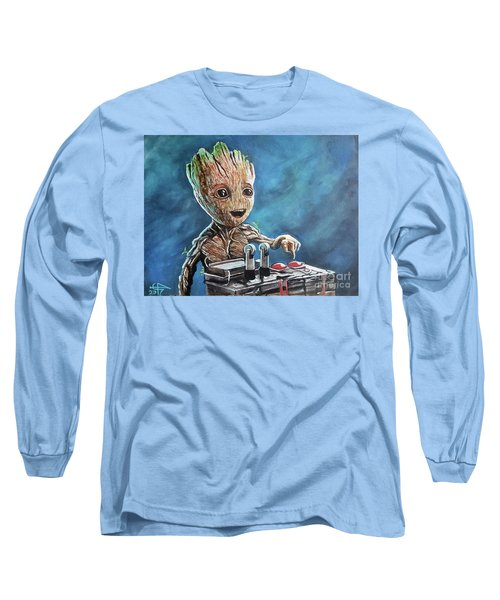 Baby Groot Long Sleeve T-Shirt by Tom Carlton