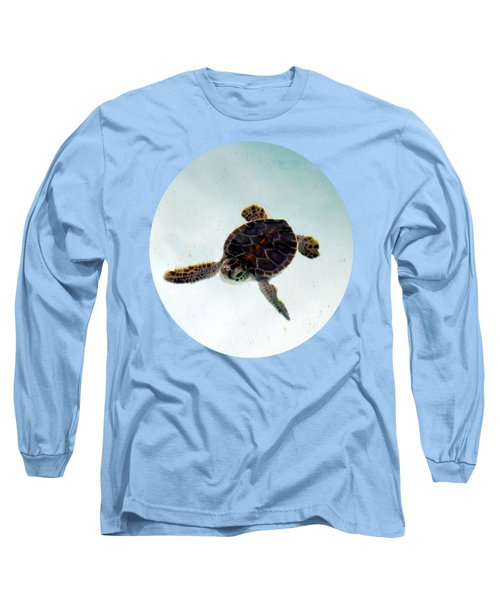 Long Sleeve T-Shirt featuring the photograph Baby Turtle by Francesca Mackenney