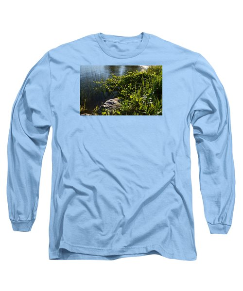 Long Sleeve T-Shirt featuring the photograph Backlight Plants By The Water  by Lyle Crump