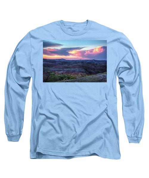 Badlands Sunrise Long Sleeve T-Shirt by Fiskr Larsen