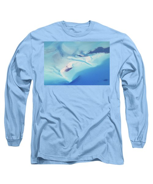 Long Sleeve T-Shirt featuring the photograph Bahama Banks Aerial Seascape by Roupen  Baker