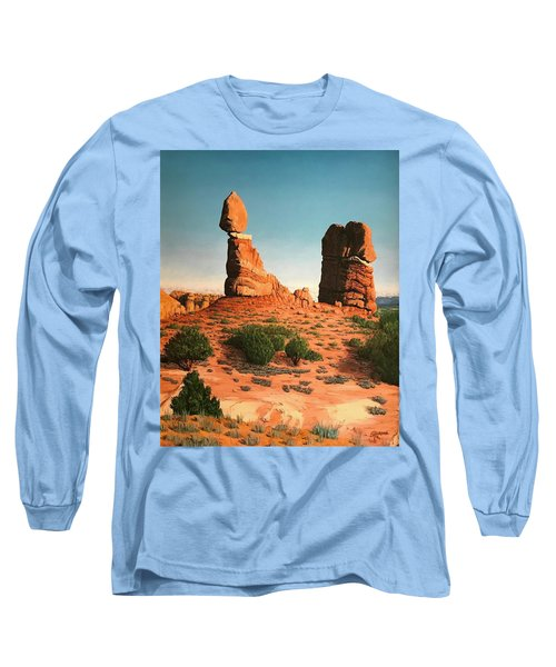 Balanced Rock At Arches National Park Long Sleeve T-Shirt