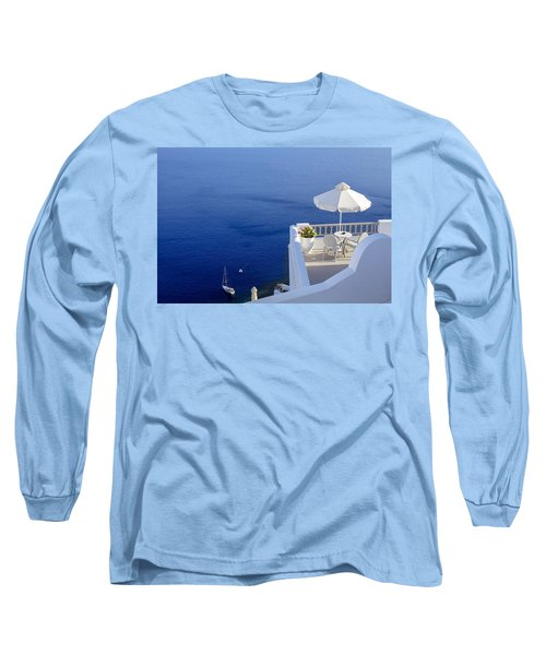Balcony Over The Sea Long Sleeve T-Shirt