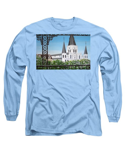 Balcony View Of St Louis Cathedral Long Sleeve T-Shirt