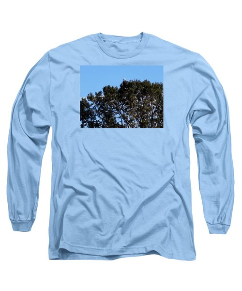Bald Eagle In Juniper Long Sleeve T-Shirt