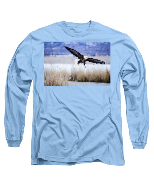 Bald Eagle Landing Long Sleeve T-Shirt