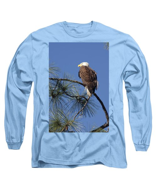Long Sleeve T-Shirt featuring the photograph Bald Eagle by Sally Weigand