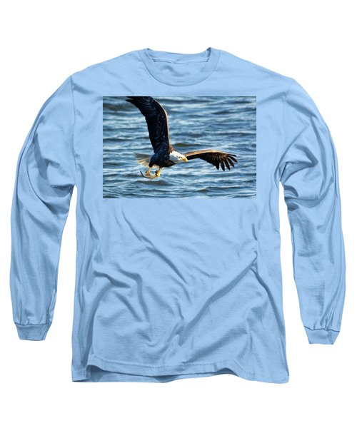 Bald Eagle With Fish Long Sleeve T-Shirt