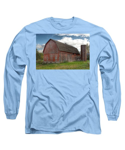 0003 - Baldwin Road Red I Long Sleeve T-Shirt