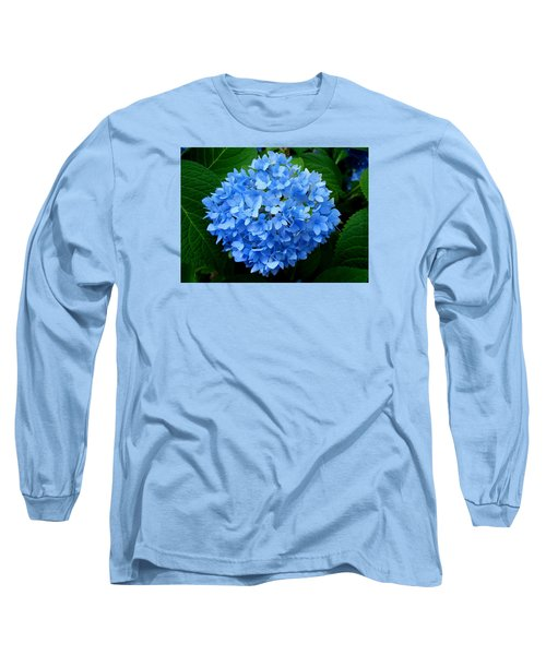 Long Sleeve T-Shirt featuring the photograph Ball Of Blue by Michiale Schneider