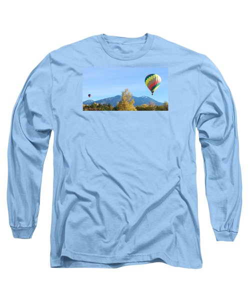 Long Sleeve T-Shirt featuring the photograph Ballons At Taos Mountain by Brenda Pressnall