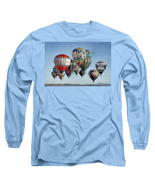 Long Sleeve T-Shirt featuring the photograph Ballooning by Marie Leslie