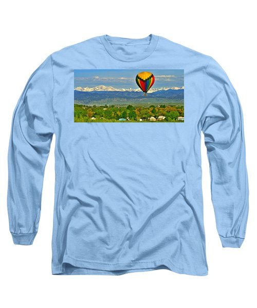 Ballooning Over The Rockies Long Sleeve T-Shirt