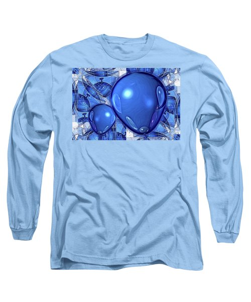 Long Sleeve T-Shirt featuring the digital art Balloons by Ron Bissett
