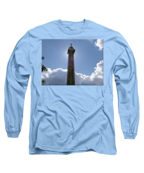Long Sleeve T-Shirt featuring the photograph Baltimore's Washington Monument by Brian Wallace