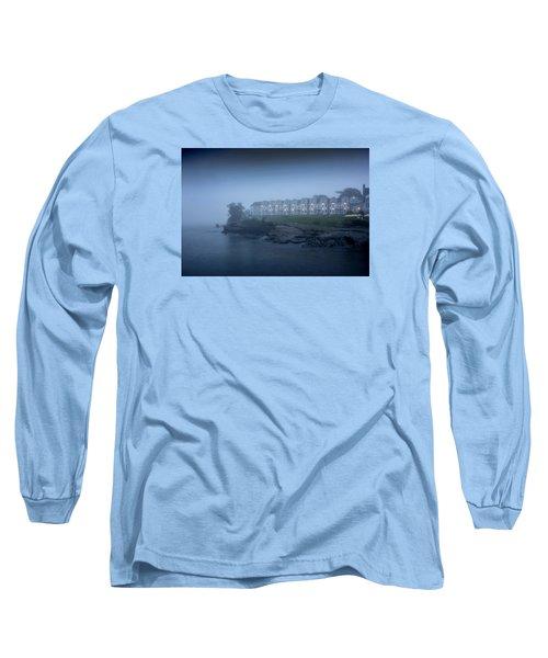 Bar Harbor Inn - Stormy Night Long Sleeve T-Shirt by Brendan Reals