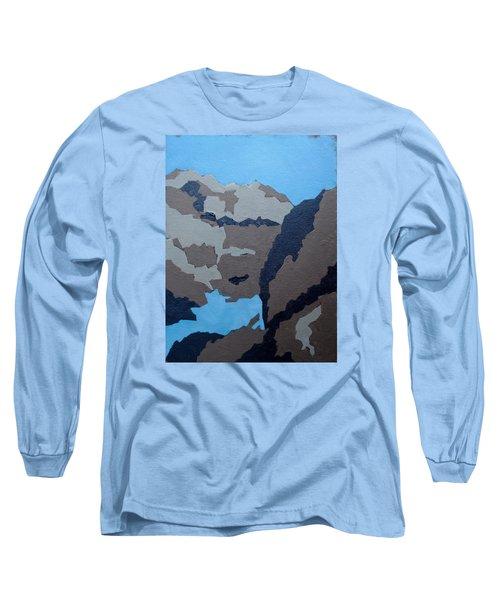 Barker Dam Abstract Long Sleeve T-Shirt by Richard Willson