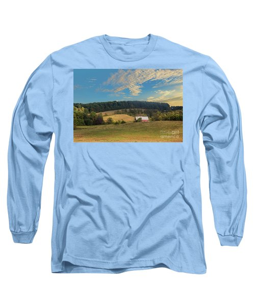 Barn In Field Long Sleeve T-Shirt