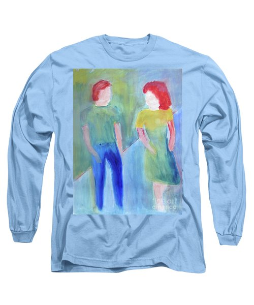 Long Sleeve T-Shirt featuring the painting Barney And Elizabeth by Sandy McIntire