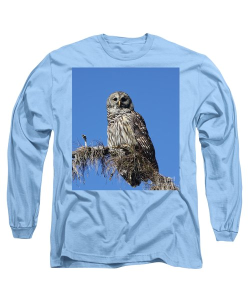 Barred Owl Portrait Long Sleeve T-Shirt