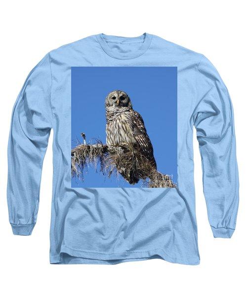 Barred Owl Portrait Long Sleeve T-Shirt