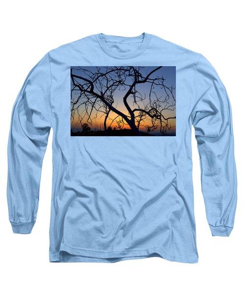 Long Sleeve T-Shirt featuring the photograph Barren Tree At Sunset by Lori Seaman