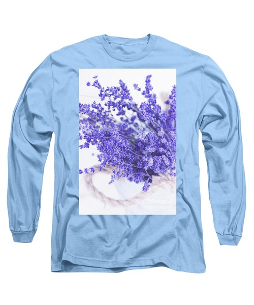 Basket Of Lavender Long Sleeve T-Shirt by Stephanie Frey