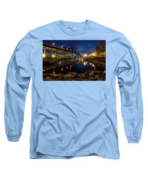Battleship Cove, Fall River, Ma Long Sleeve T-Shirt by Betty Denise