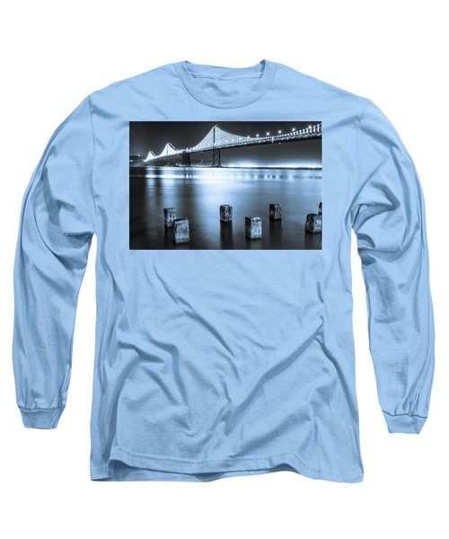 Bay Bridge 1 In Blue Long Sleeve T-Shirt