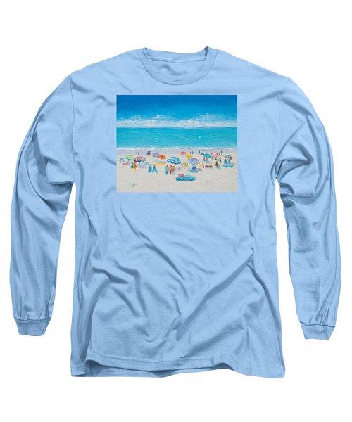 Beach Art - Fun In The Sun Long Sleeve T-Shirt by Jan Matson
