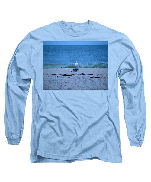 Long Sleeve T-Shirt featuring the photograph Beach Birds by  Newwwman
