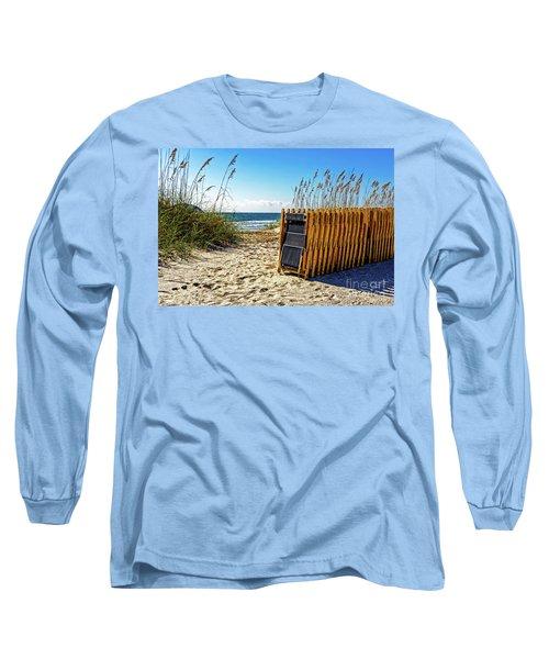 Beach Chairs Long Sleeve T-Shirt by Paul Mashburn