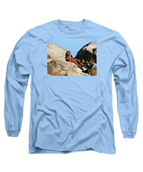 Beachcomber Long Sleeve T-Shirt by Laura Ragland