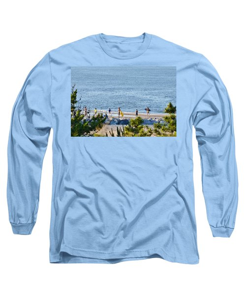 Long Sleeve T-Shirt featuring the photograph Beach Fun At Cape Henlopen by Kim Bemis