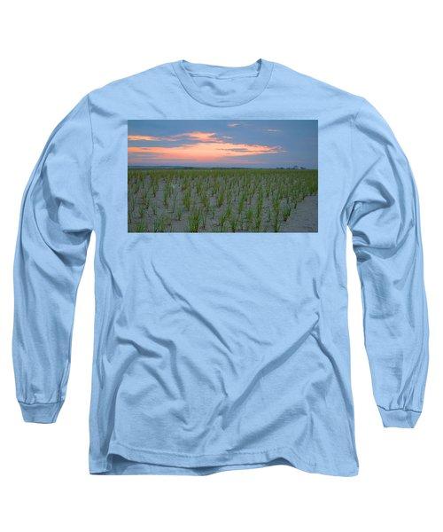 Long Sleeve T-Shirt featuring the photograph Beach Grass Farm by  Newwwman