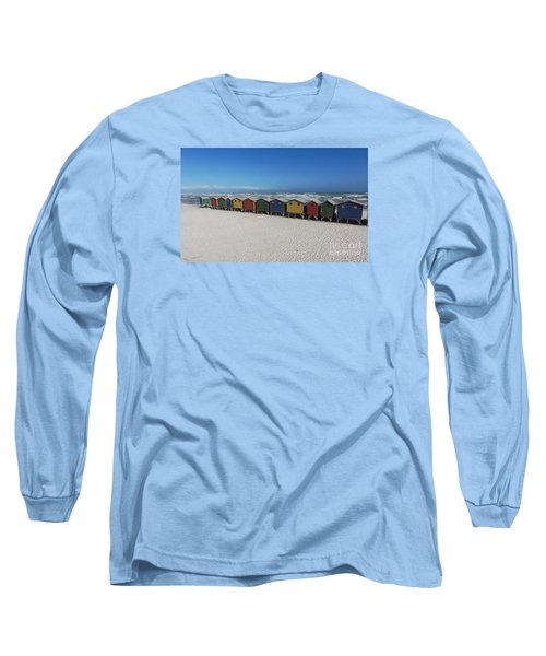 Beach Houses Long Sleeve T-Shirt by Bev Conover
