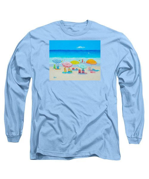 Beach Painting - Catching The Breeze Long Sleeve T-Shirt