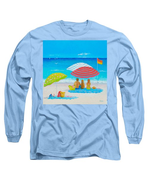 Beach Painting - Endless Summer Days Long Sleeve T-Shirt