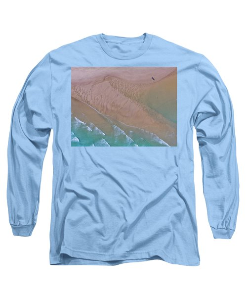 Beach Patterns At North Point On Moreton Island Long Sleeve T-Shirt