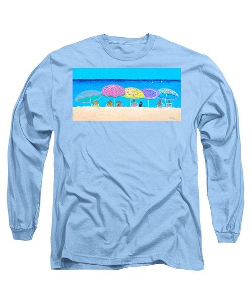 Beach Sands Perfect Tans Long Sleeve T-Shirt by Jan Matson