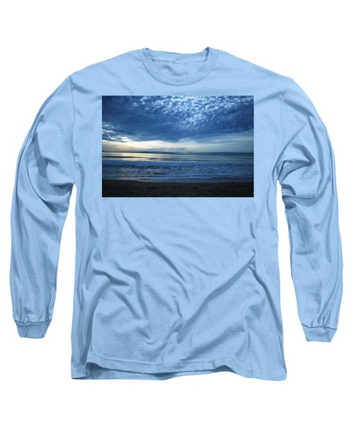 Beach Sunset - Blue Clouds Long Sleeve T-Shirt