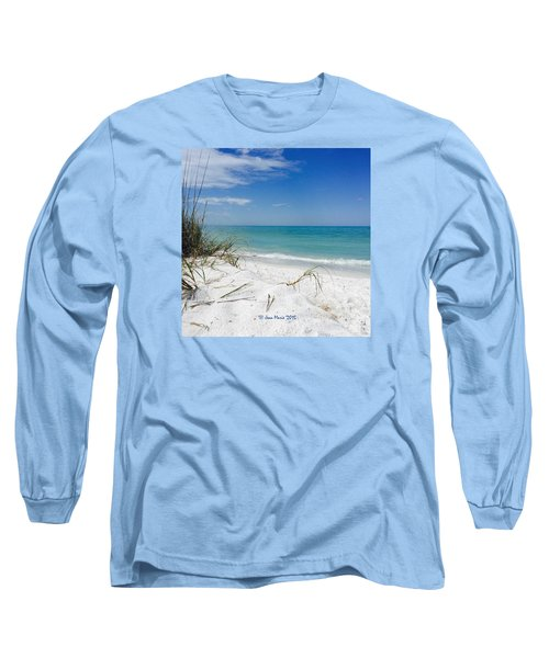 Long Sleeve T-Shirt featuring the photograph Bean Point, Anna Maria Island by Jean Marie Maggi