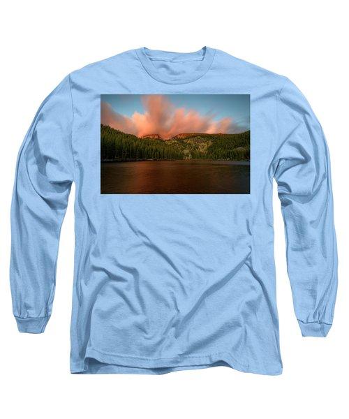 Long Sleeve T-Shirt featuring the photograph Bear Lake's Hallett Peak #1 by John Gilbert