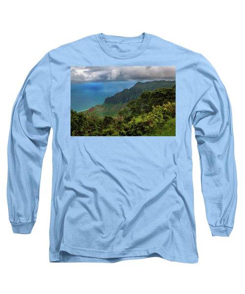 Beautiful And Illusive Kalalau Valley Long Sleeve T-Shirt