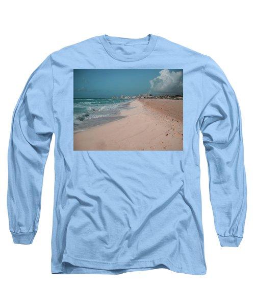 Beautiful Beach In Cancun, Mexico Long Sleeve T-Shirt