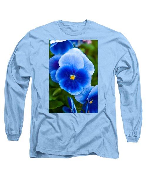 Beautiful Blues Long Sleeve T-Shirt by Az Jackson