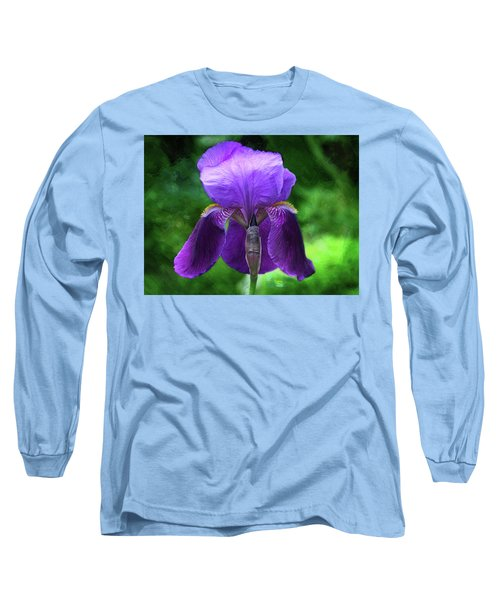 Beautiful Iris With Texture Long Sleeve T-Shirt by Trina Ansel